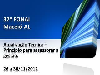 37º FONAI Maceió-AL