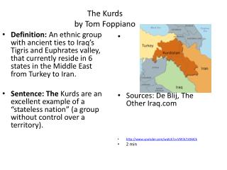 The Kurds by Tom Foppiano
