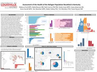 Assessment of the Health of the Refugee Population Resettled in  Kentucky
