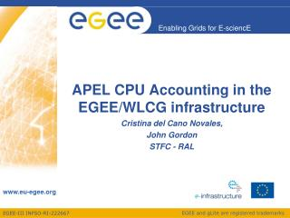 APEL CPU Accounting in the EGEE/WLCG infrastructure