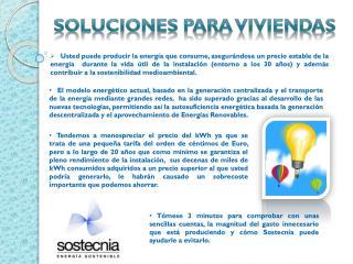 Soluciones para viviendas