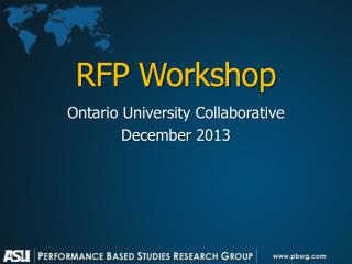 RFP Workshop