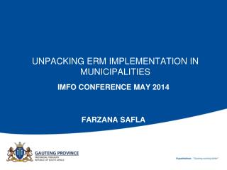 UNPACKING ERM IMPLEMENTATION IN MUNICIPALITIES
