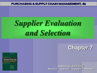 Supplier Evaluation and Selection