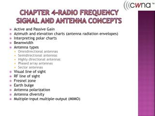 Chapter 4-Radio Frequency signal and Antenna Concepts