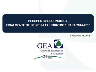PERSPECTIVA ECONOMICA: FINALMENTE SE DESPEJA EL HORIZONTE PARA 2014-2015
