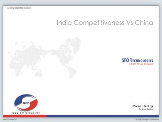 India Competitiveness Vs China