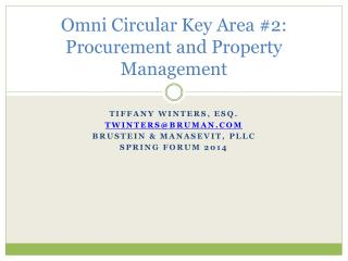 Omni Circular Key Area #2: Procurement and  Property Management