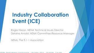 Industry  Collaboration Event (ICE)
