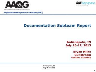 Documentation Subteam Report