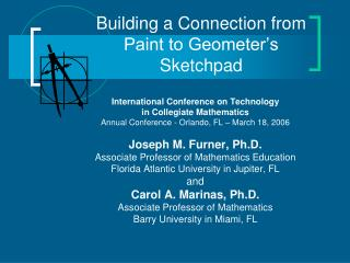 Building a Connection from Paint to Geometer's Sketchpad