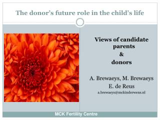 The donor's future role in the child's life