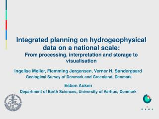 Integrated planning on hydrogeophysical data on a national scale: From processing, interpretation and storage to visuali