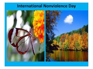 International Nonviolence Day