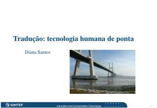 Tradução: tecnologia humana de ponta