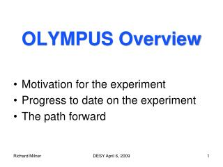 OLYMPUS Overview