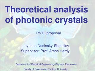 Theoretical analysis of photonic crystals