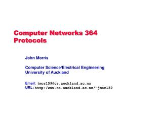 Computer Networks 364 Protocols