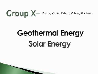 Group X-