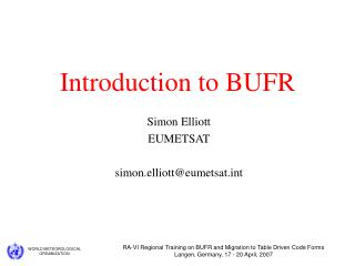 Introduction to BUFR
