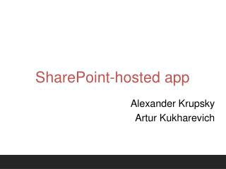 SharePoint-hosted app