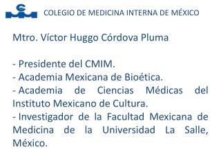 COLEGIO DE MEDICINA INTERNA DE M XICO