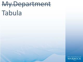 My.Department Tabula