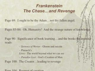 Frankenstein The Chase and Revenge