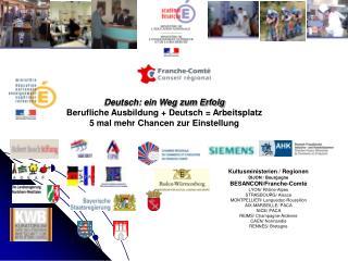 Deutsch: ein Weg zum Erfolg Berufliche Ausbildung + Deutsch = Arbeitsplatz