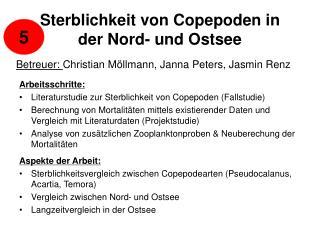 Sterblichkeit von Copepoden in der Nord- und Ostsee