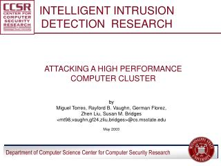 INTELLIGENT INTRUSION DETECTION  RESEARCH