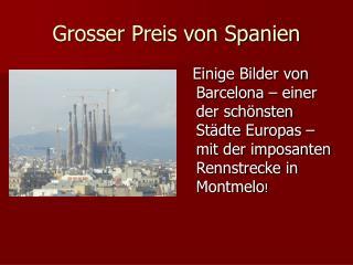 Grosser Preis von Spanien