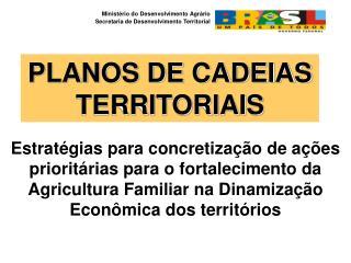 PLANOS DE CADEIAS TERRITORIAIS