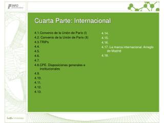 Cuarta Parte: Internacional