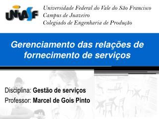 Gerenciamento das relações de fornecimento de serviços