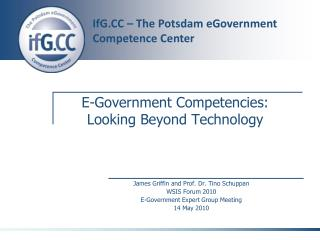 E-Government Competencies:  Looking Beyond Technology