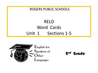 RELD     Word   Cards Unit  1        Sections  1-5
