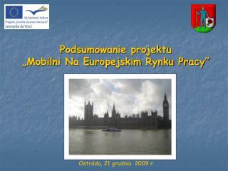Podsumowanie projektu  �Mobilni Na Europejskim Rynku Pracy�