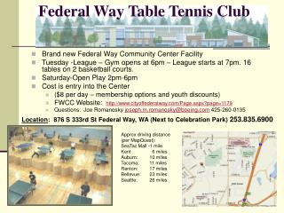 Federal Way Table Tennis Club