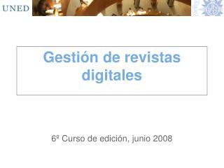 Gestión de revistas digitales