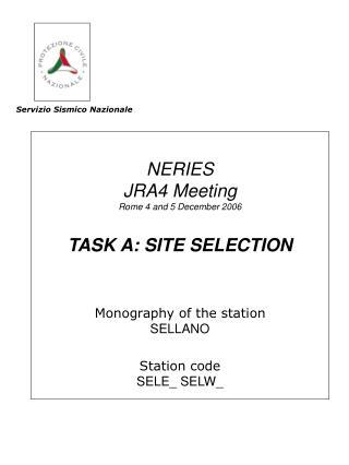 Servizio Sismico Nazionale