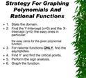 Strategy For Graphing Polynomials And Rational Functions