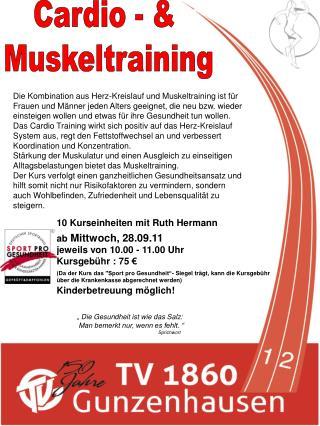 Cardio - &  Muskeltraining
