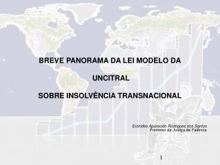BREVE PANORAMA DA LEI MODELO DA  UNCITRAL SOBRE INSOLVÊNCIA TRANSNACIONAL