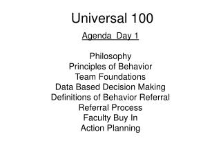 Universal 100
