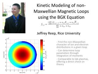 Kinetic Modeling of non-Maxwellian Magnetic Loops using the BGK Equation