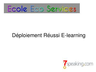 D�ploiement R�ussi  E-learning