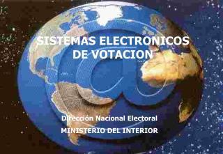 SISTEMAS ELECTRONICOS DE VOTACION