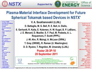 Plasma -Material Interface Development for Future Spherical Tokamak based Devices in  NSTX *