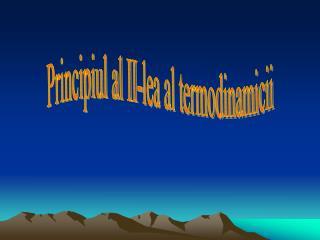 Principiul al II-lea al termodinamicii